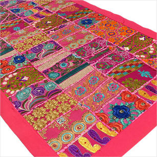 """Patchwork Embroidered Tapestry Wall Hanging - 22 X 80"""""""