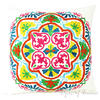 """White Decorative Embroidered Throw Pillow Cushion Cover - 16, 18"""""""
