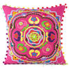 Pink Decorative Embroidered Sofa Pillow Cushion Cover - 16, 18""