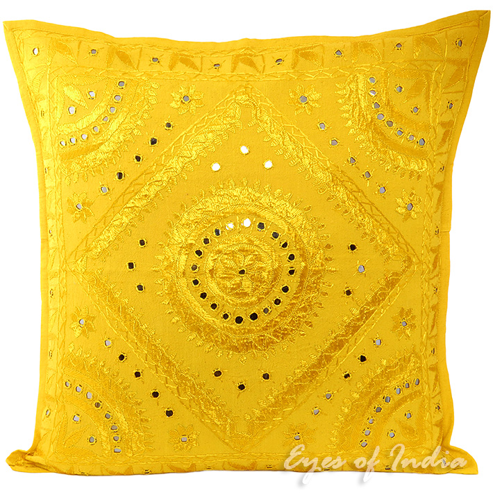 Large Yellow Throw Pillow : 24