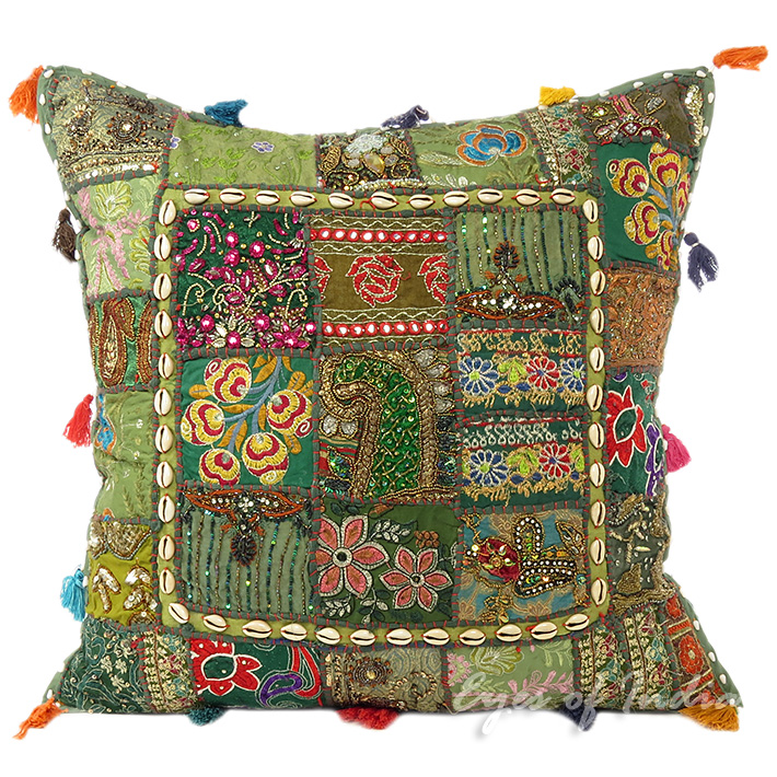 Big Green Throw Pillows : 24