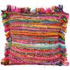 "Pink Chindi Throw Pillow Cushion Cover - 20 X 20"""