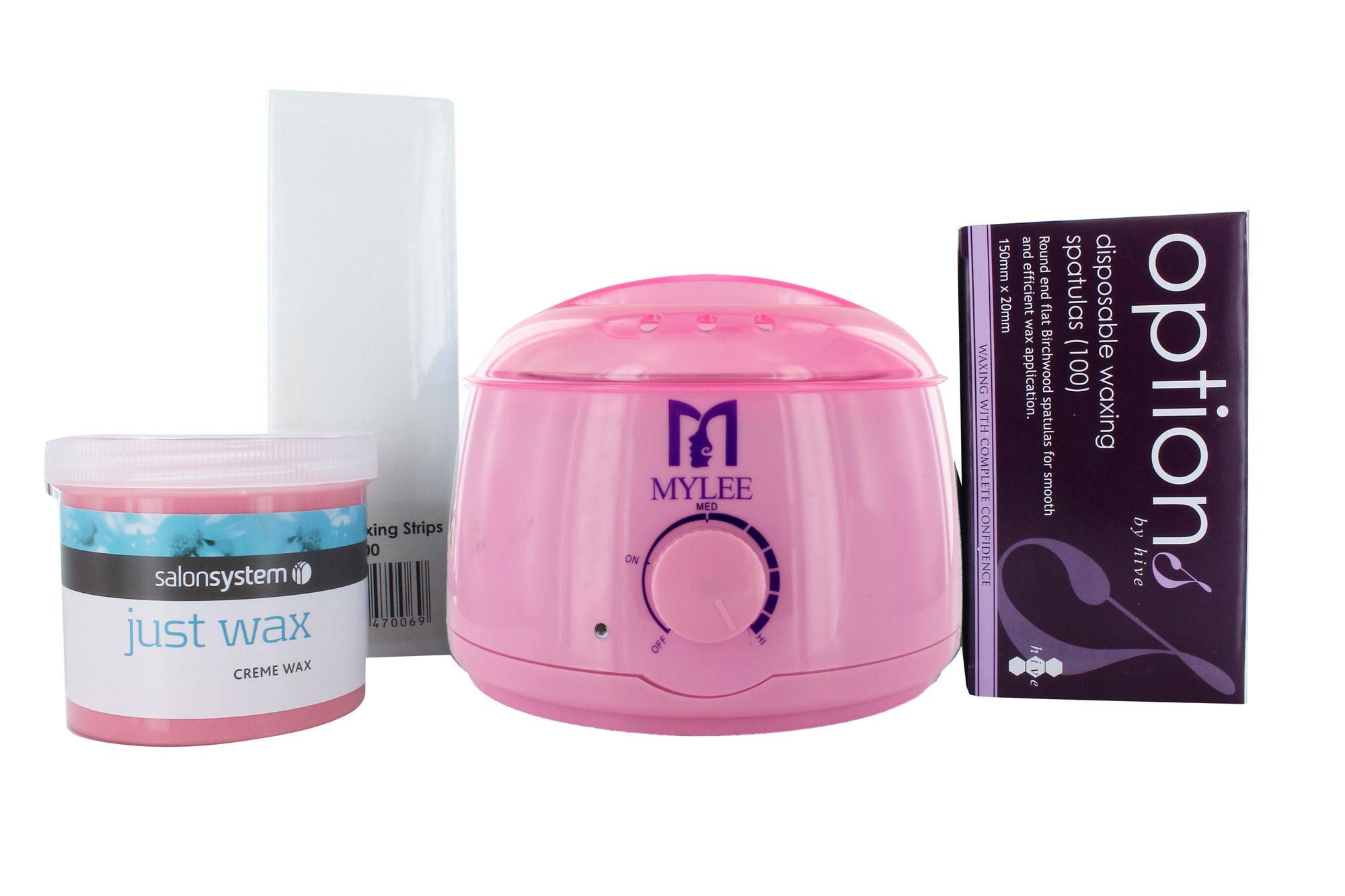 Depilatory Waxing Kit Including Wax Heater Strips Spatulas Wax Pot Hair Removal
