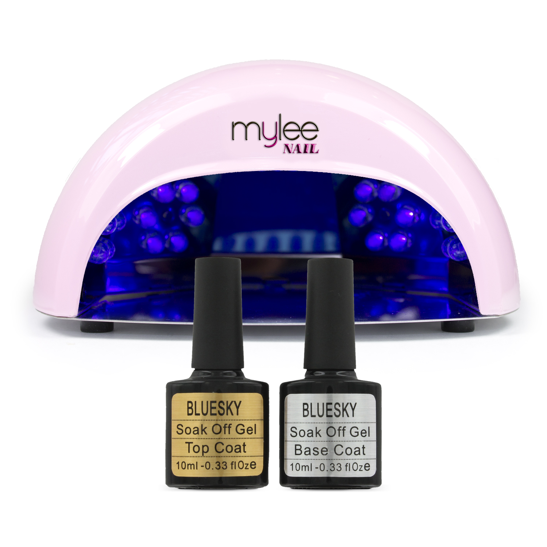Best Gel Nail Polish With Led Light: Gel Polish Nail Manicure Kit Bluesky Top Base Coat Mylee