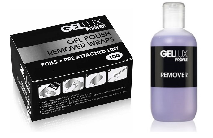 Salon System Professional Gellux Nail Polish UV Gel Acrylic Remover Foil kit