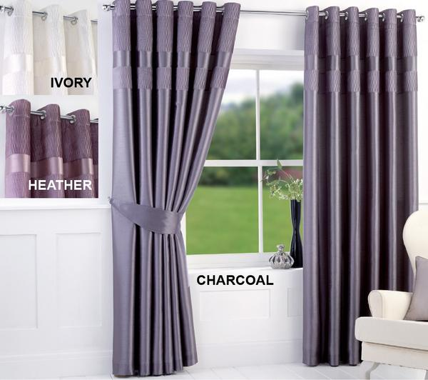Image Is Loading Studio Crinkle Pleated Top Border Ring Top Curtains