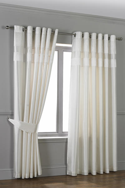 Studio Crinkle Pleated Top Border Ring Top Curtains
