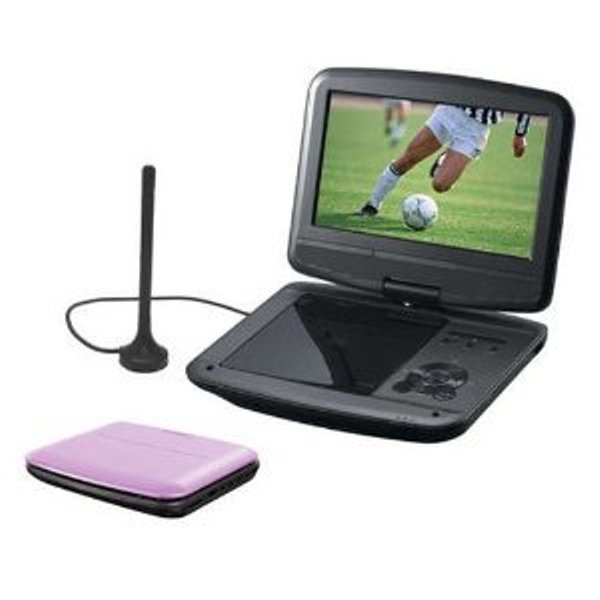 akai dxp101dt 10 39 39 led portable dvd player with dvb t tv tuner pink ebay. Black Bedroom Furniture Sets. Home Design Ideas