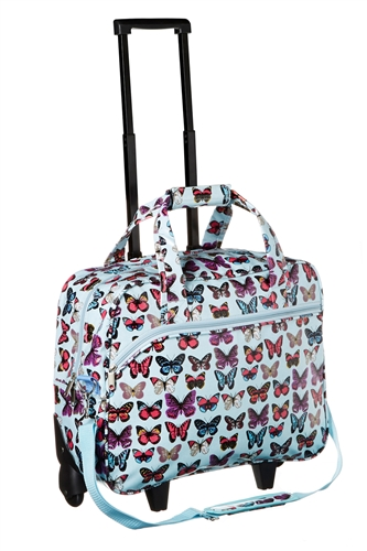Oil Cloth Ladies Holdall Trolley Weekend Bag Hand Luggage - BLUE ...