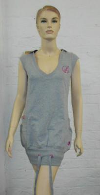Women's Kangol Longline Sweatshirt/ Dress - Grey Marl - 8 10 12 14 16 18