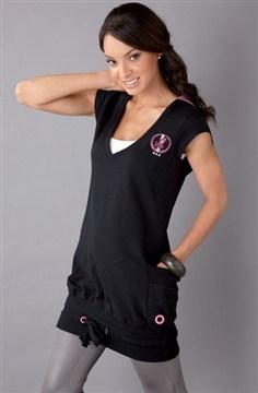 Kangol Jumper Dress - Black