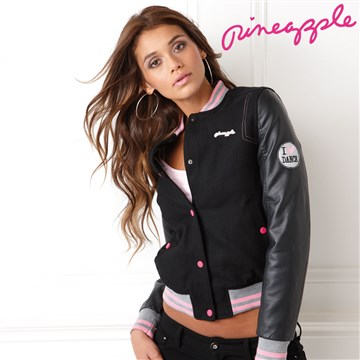Women's Pineapple Wool Blend Baseball Jacket - Black | eBay
