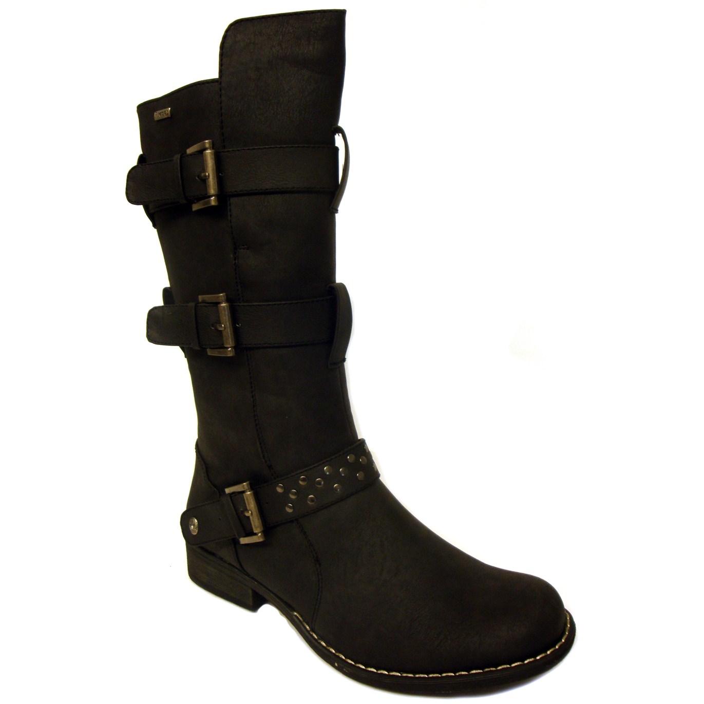 firetrap synthetic calf length biker boots womens ebay