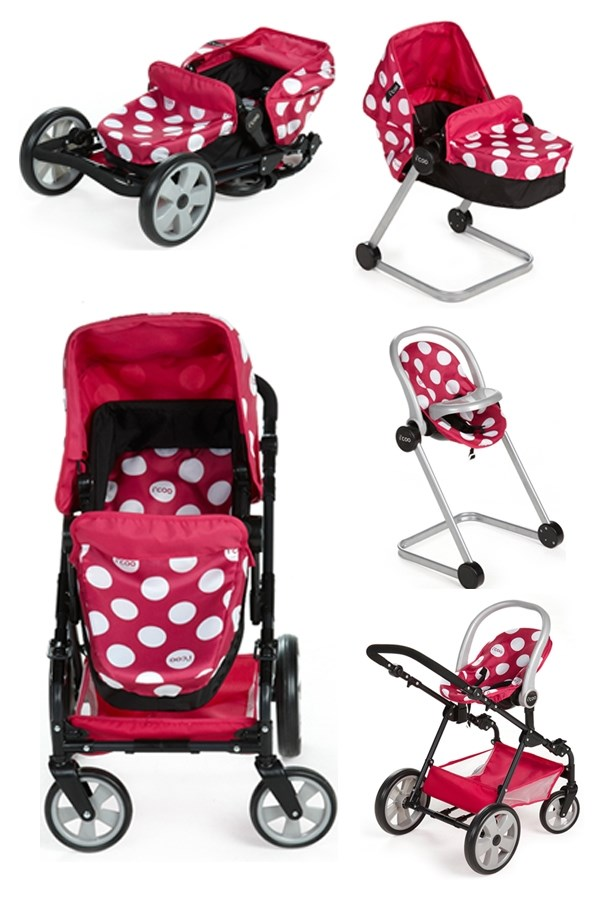 I 39 Coo Doll Stroller Playset Pink Polka Dot EBay
