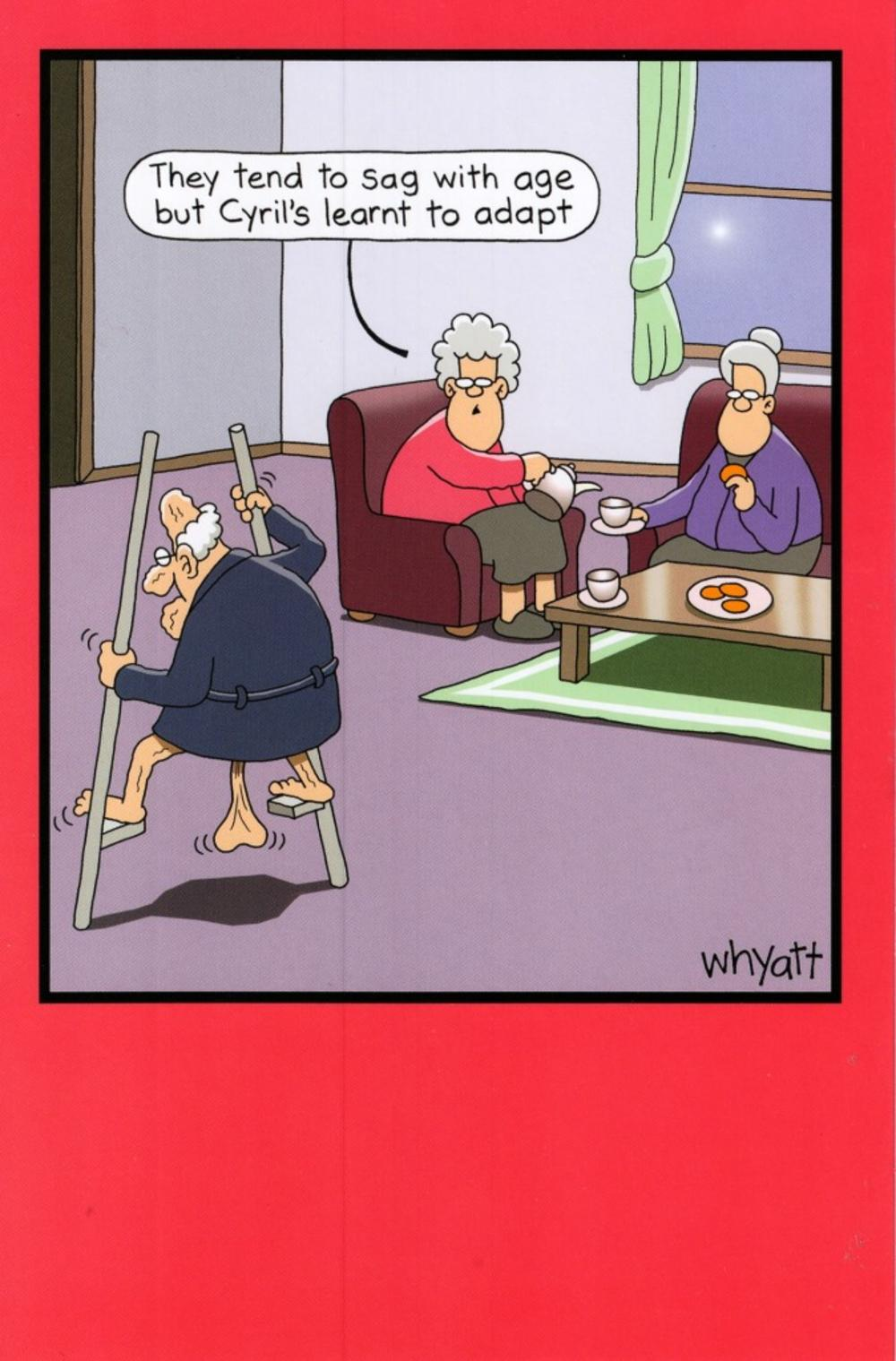 funny sag with age year birthday greeting card  cards  love kates, Birthday card
