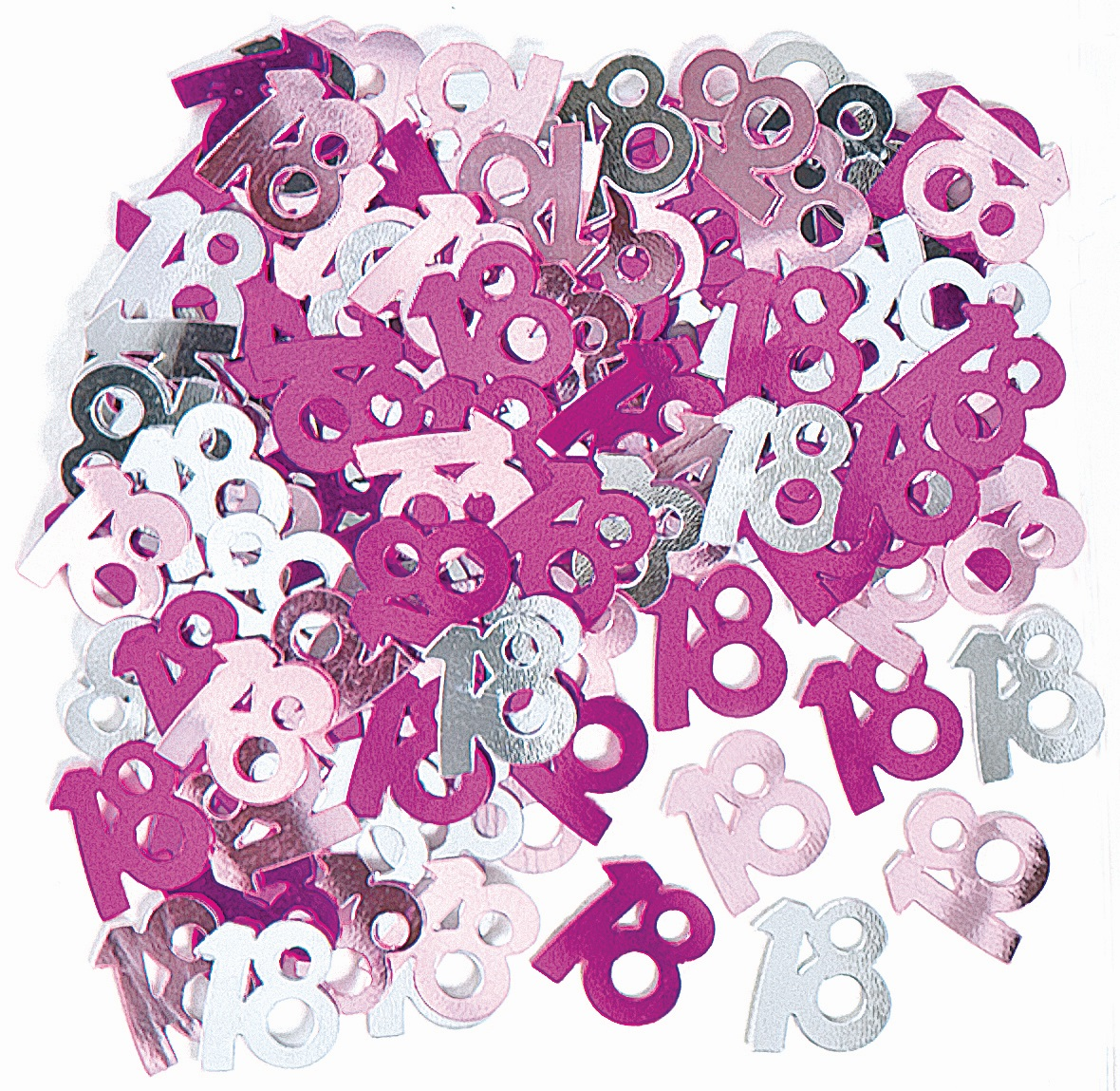 Pink Glitz Age 18 Birthday Table Confetti 14 Gram Packet