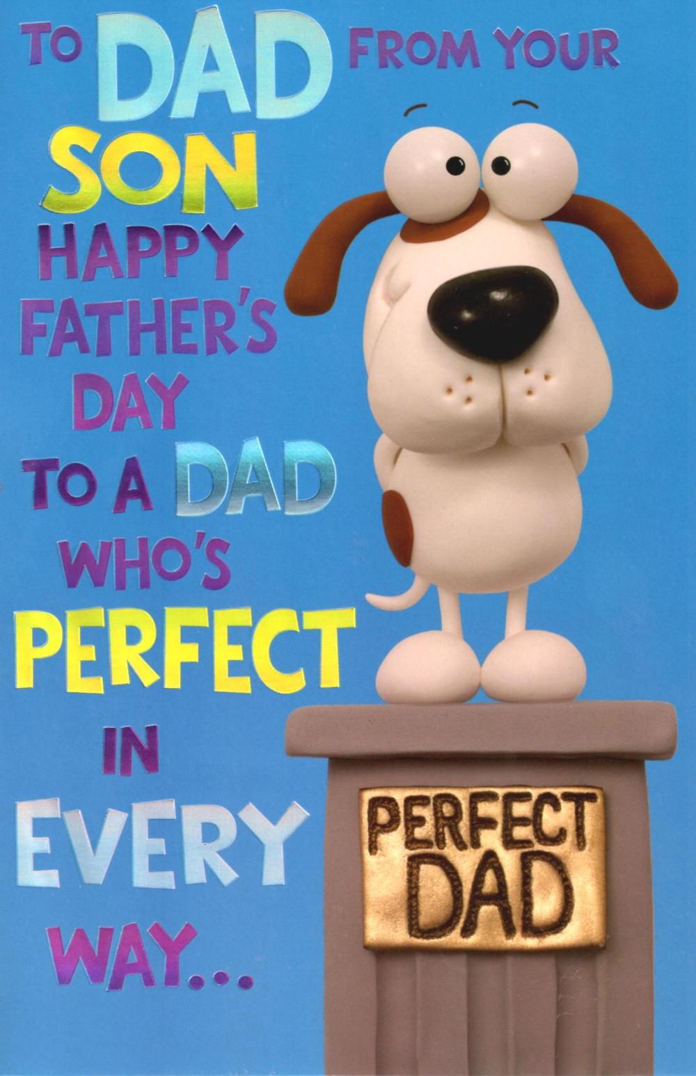Cute To A Perfect Dad From Son Fathers Day Card Cards Love Kates