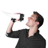 Das Horn Viking Drinking Vessel With Neck Strap & Stand