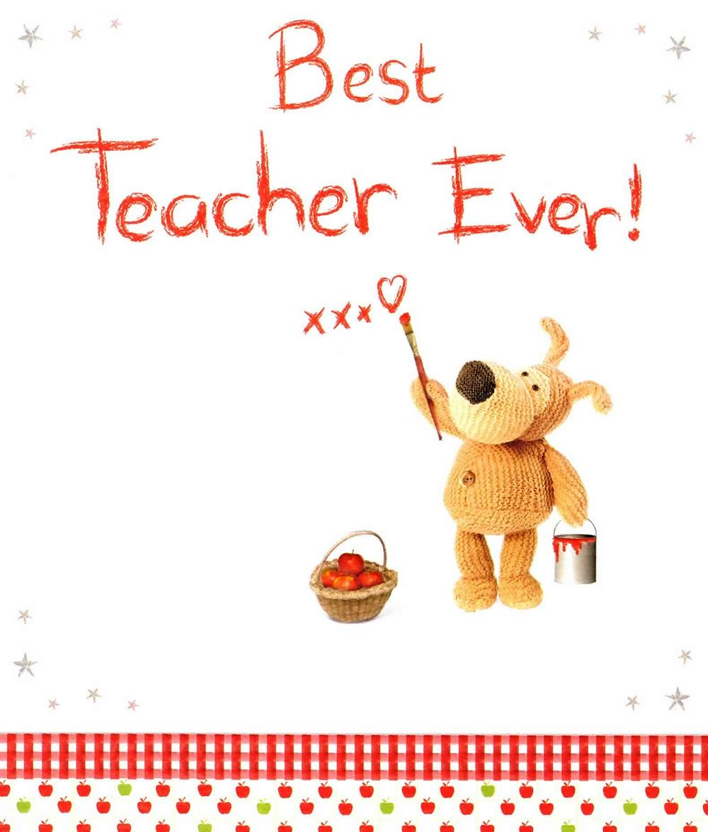 Boofle Best Teacher Ever Greeting Card Cards Love Kates