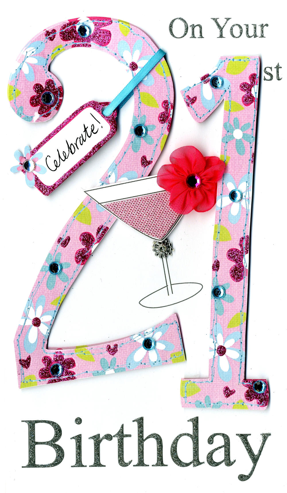 Gorgeous 21st Age 21 Birthday Greeting Card Cards Love