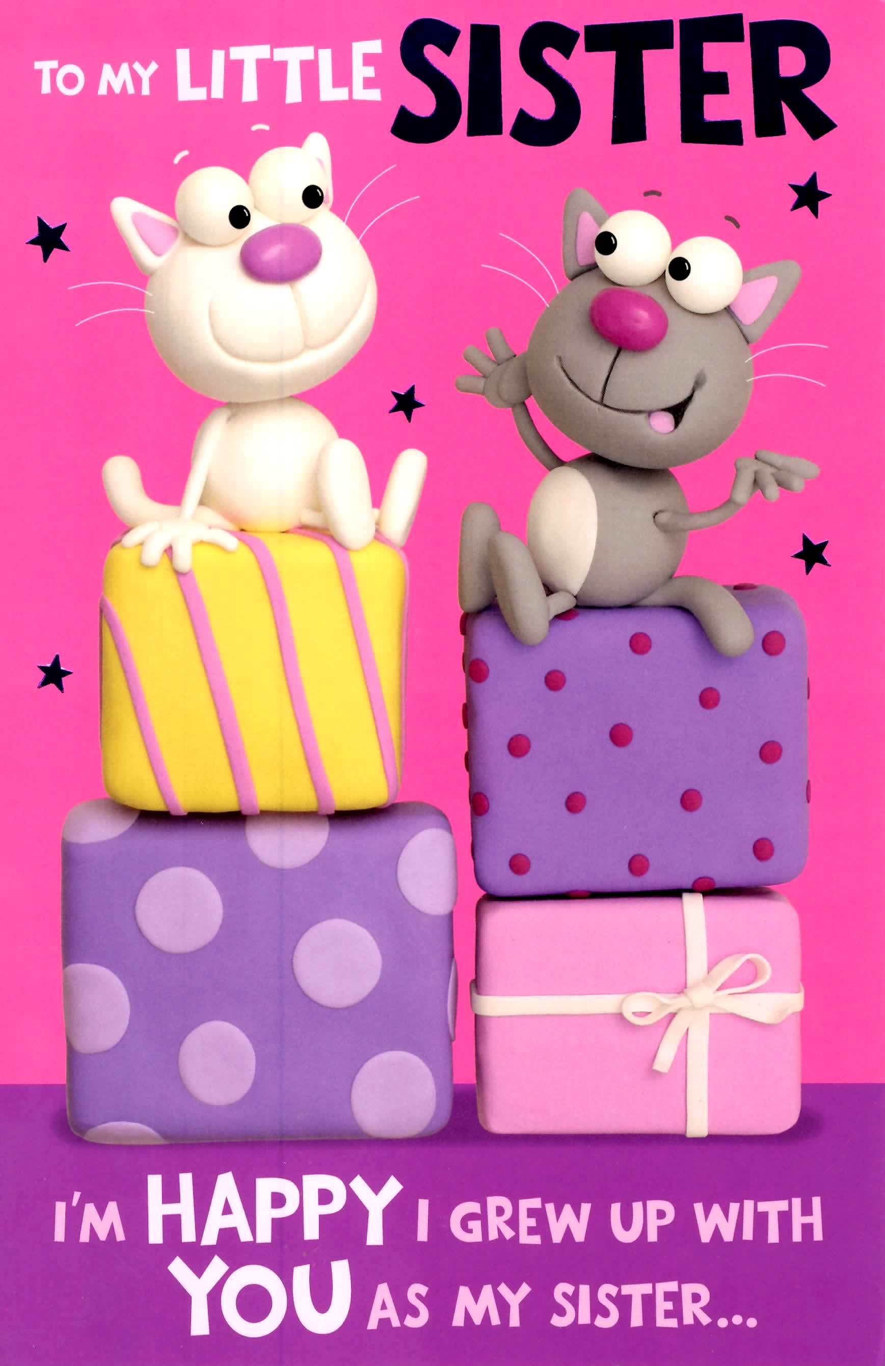 Cute Funny Little Sister Birthday Greeting Card Crackers Range