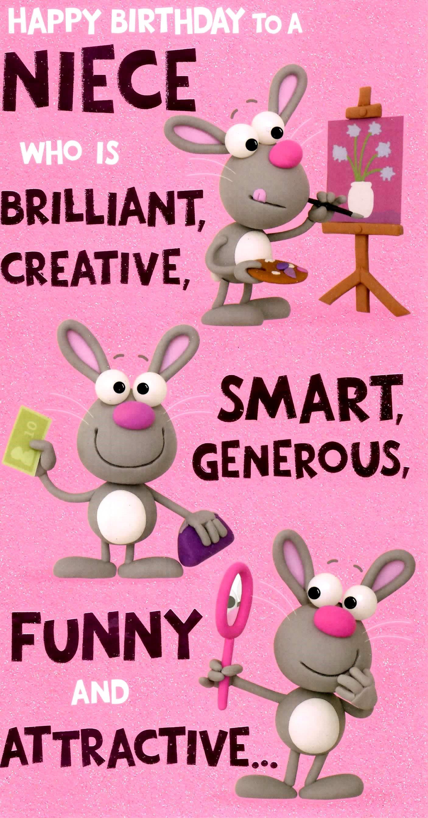 cute funny niece birthday greeting card crackers range cards new, Birthday card