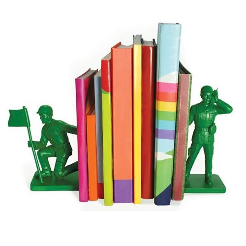 Toy Soldier Bookends Pair Of Cool Novelty Army Green
