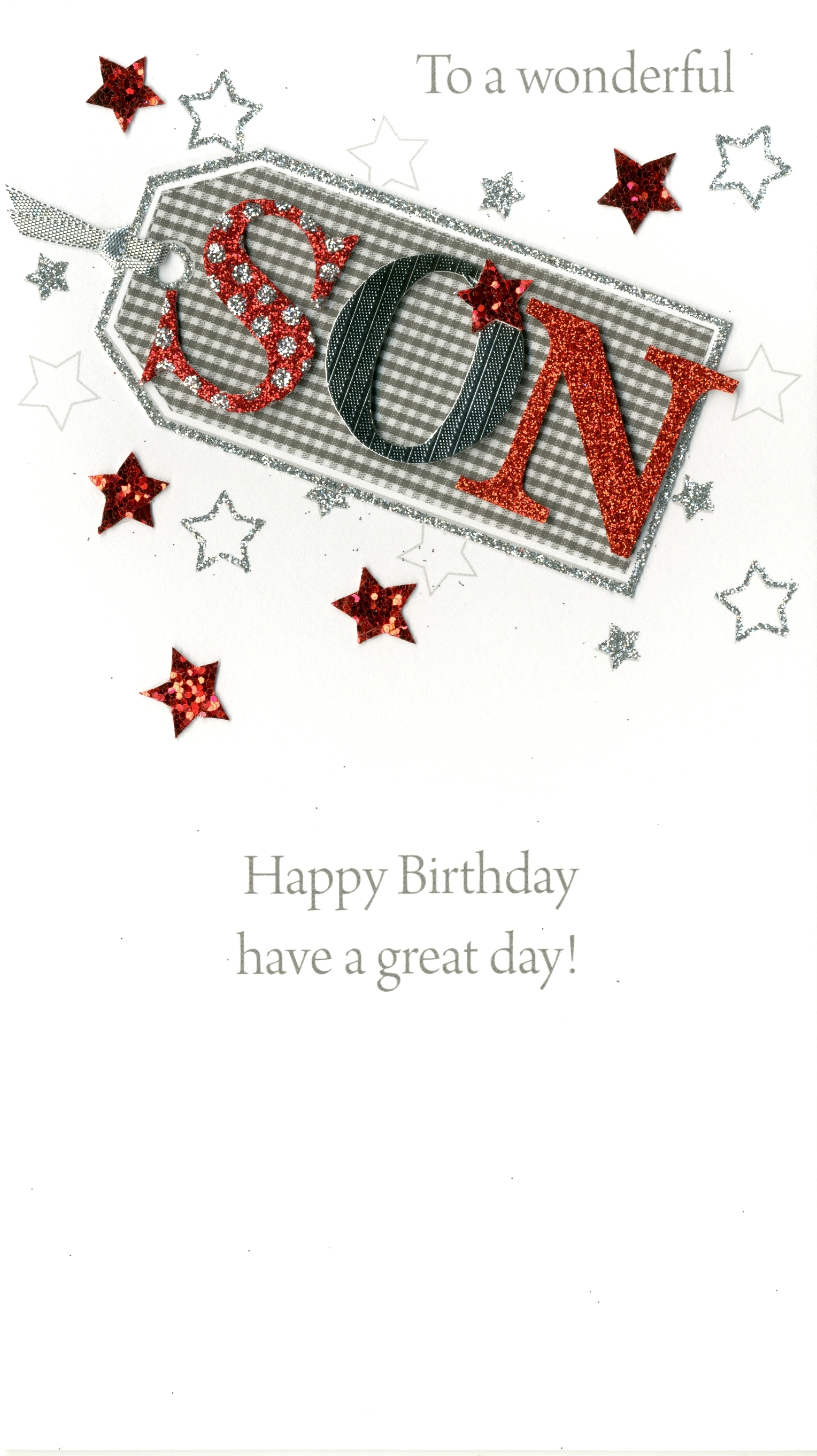 To A Wonderful Son Happy Birthday Greeting Card Hand-Finished Cards