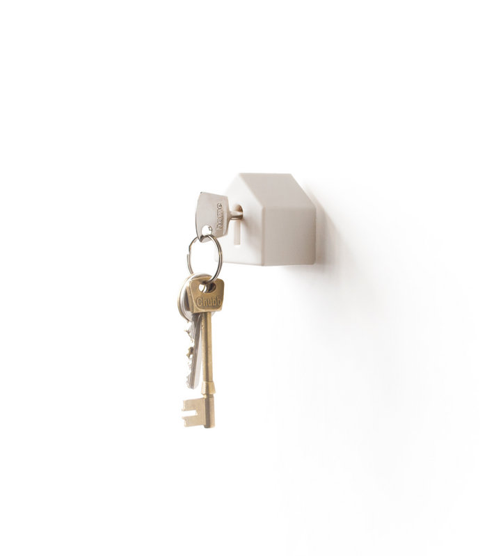 A Home For Your Keys Wall Mounted House Shaped Key Holder