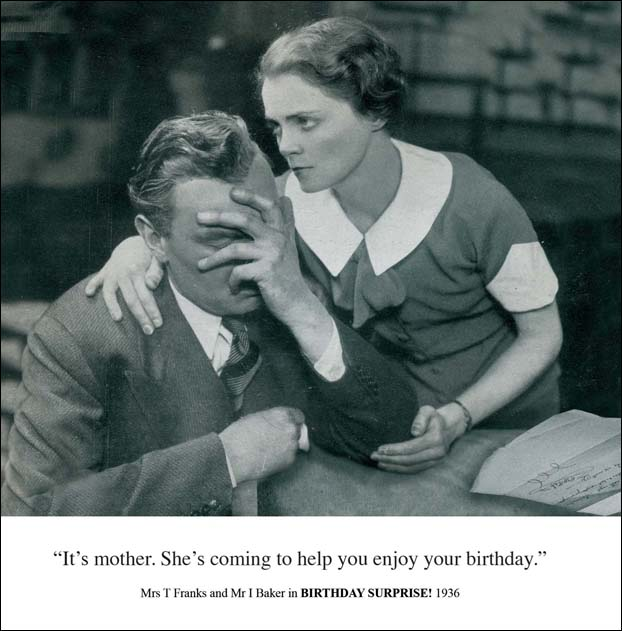 Mother's Coming Funny Birthday Greeting Card Retro Humour