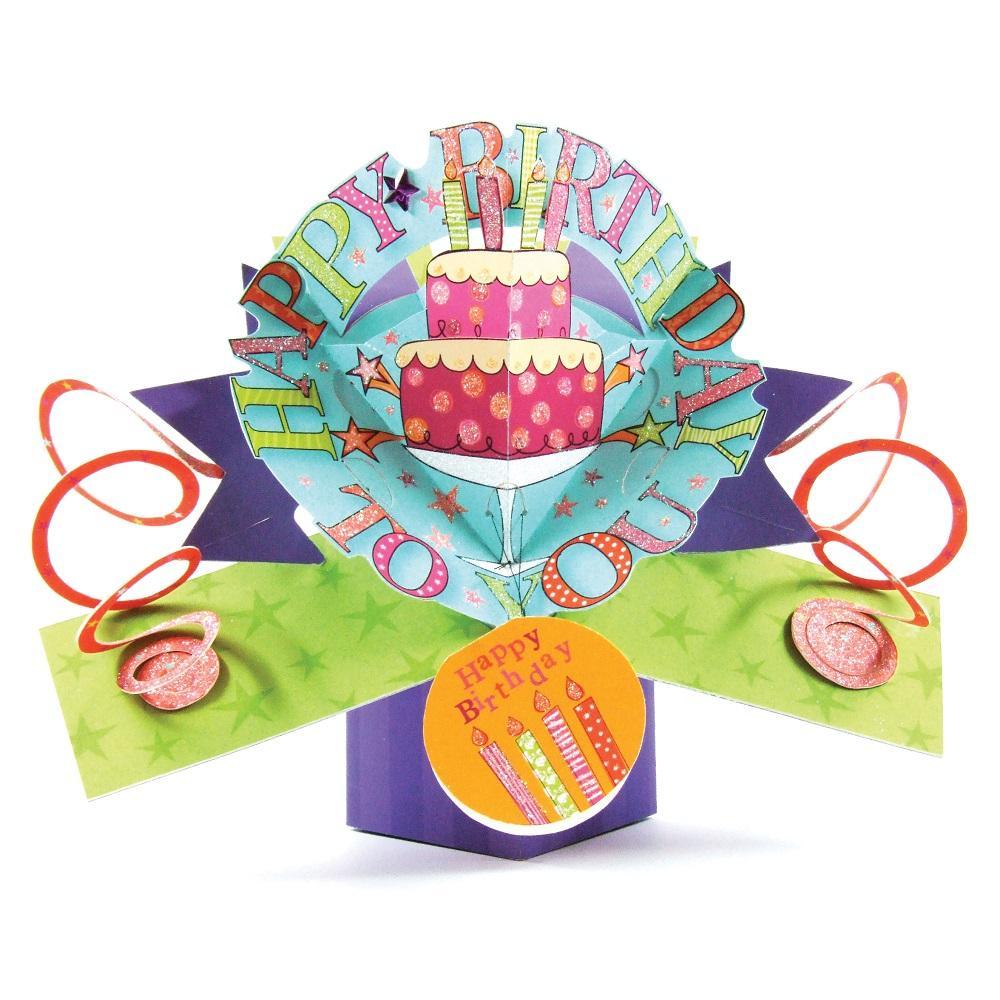 Happy Birthday Cake Pop-Up Greeting Card  Cards  Love Kates