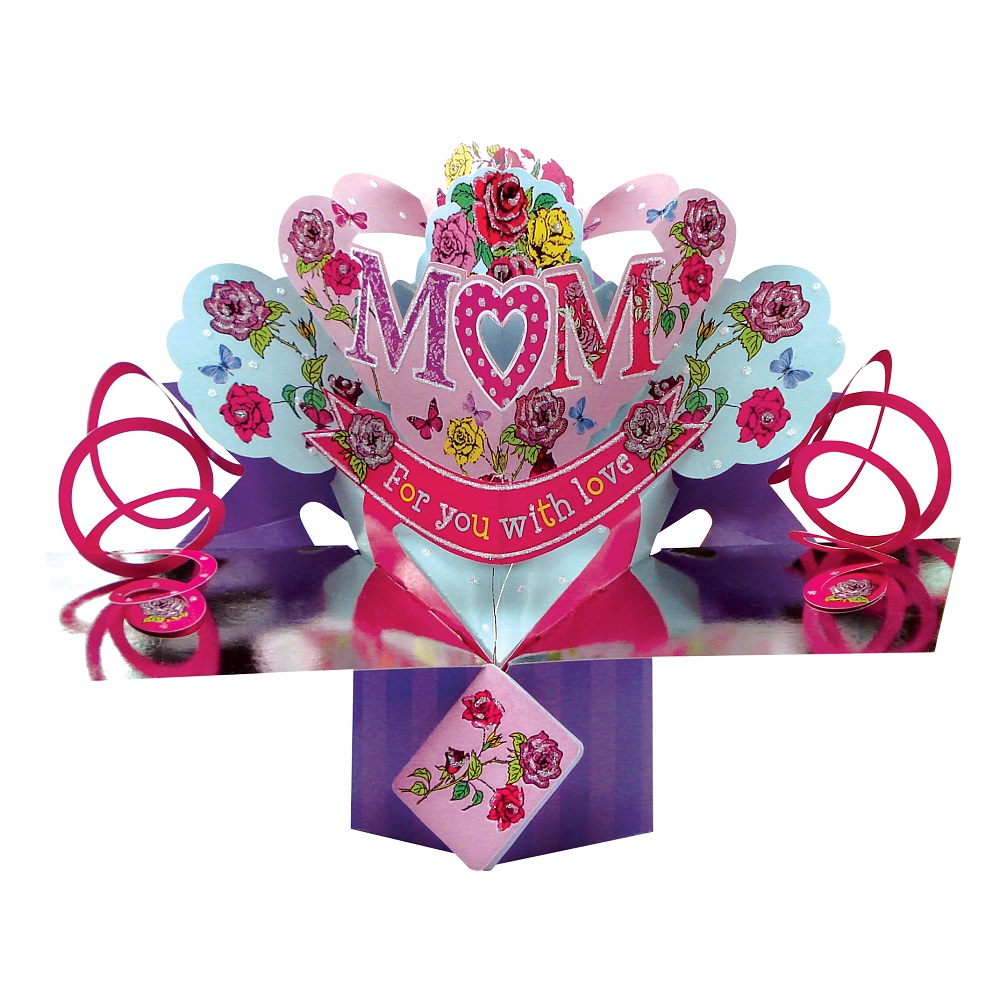 Mum pop up greeting card birthday or mother 39 s day second for Pop up birthday cards for mom