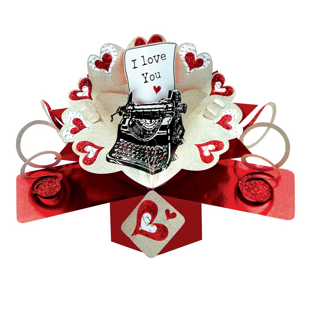 how to make i love you pop up card