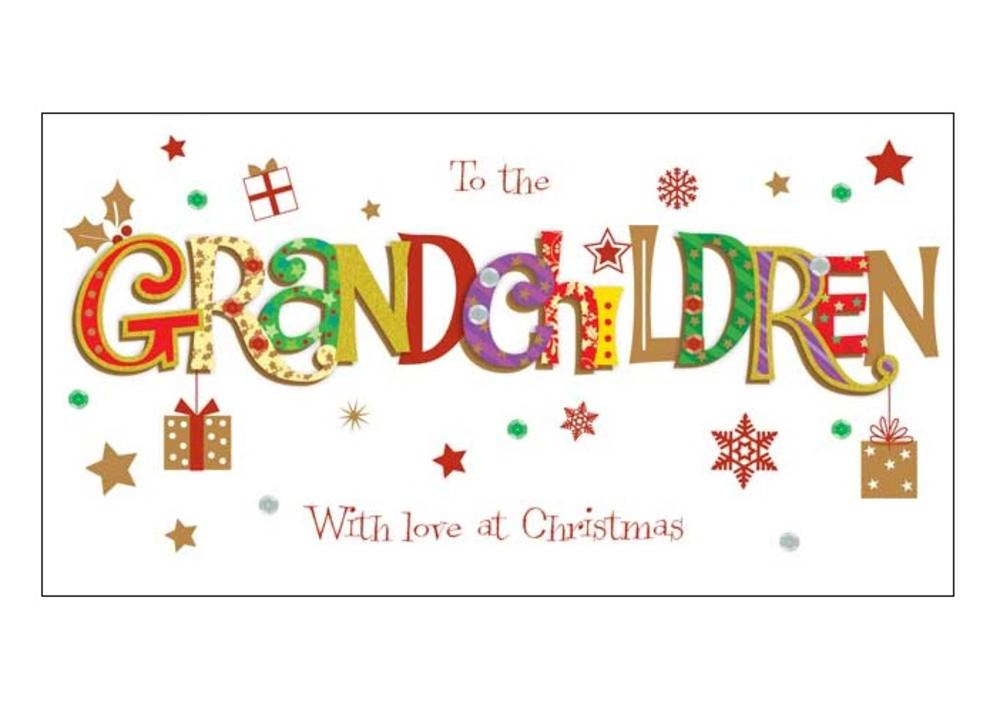 To The Grandchildren Christmas Greeting Card Cards
