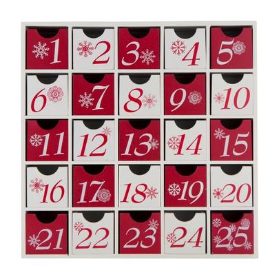 Wooden Christmas Advent Calendar By Home Living