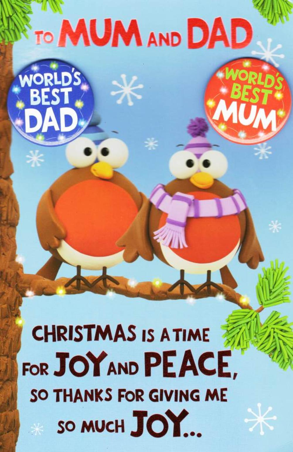 To Mum Amp Dad Funny Christmas Card Cards Love Kates
