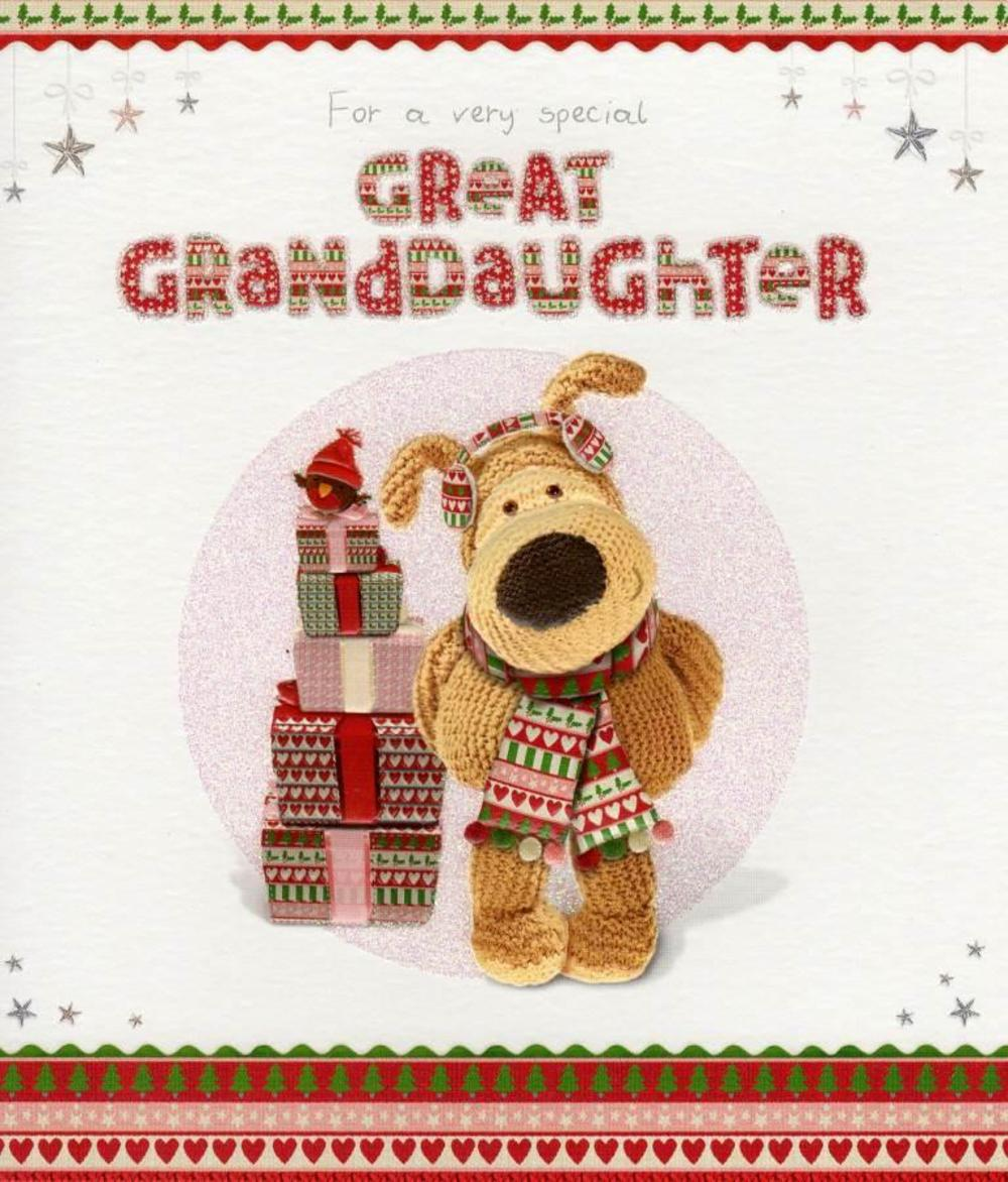Boofle Great Granddaughter Christmas Card Cards Love Kates