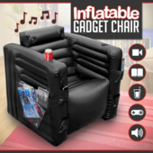 Inflatable Gadget Chair Novelty Gaming Geek Seat