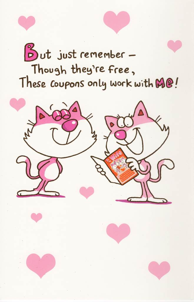 To My Wife Fun Sex Coupons Inside Valentine's Day Card Valentine ...
