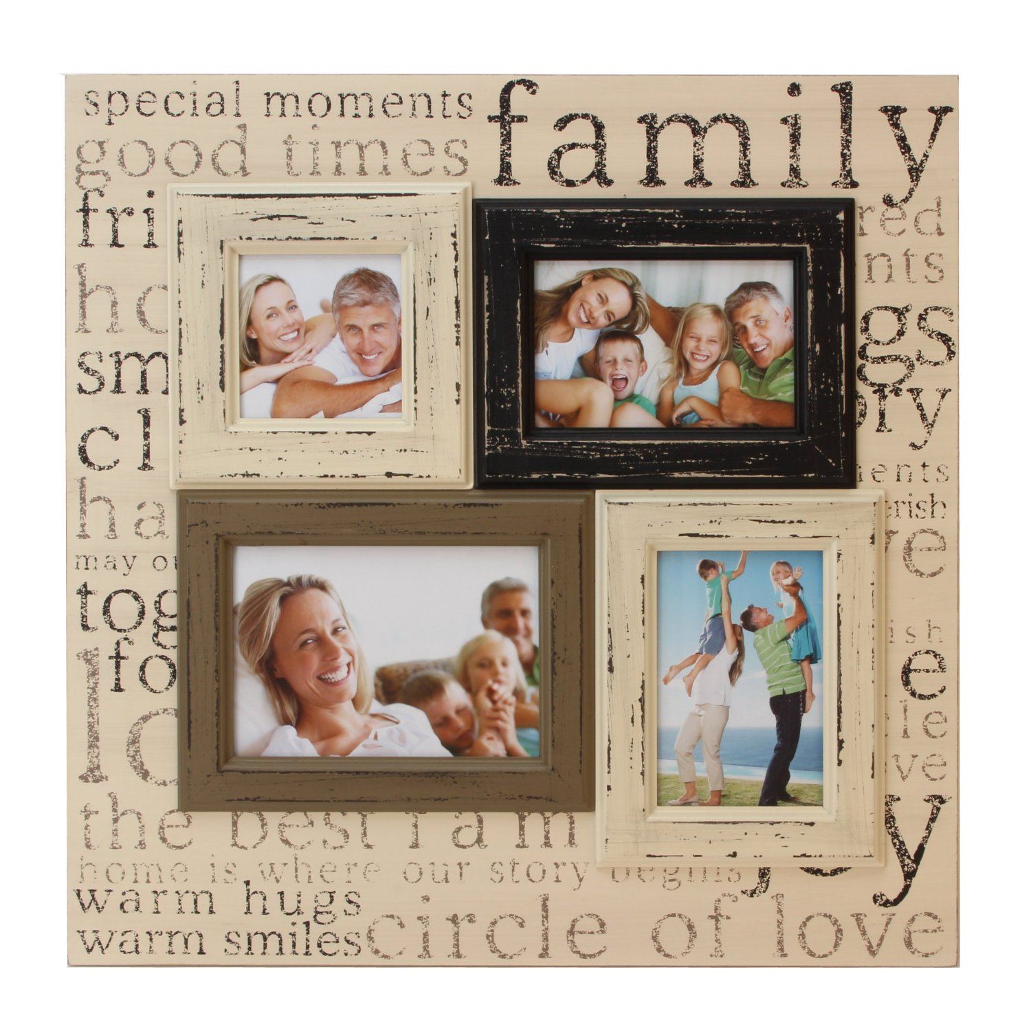 Family Multi Aperture Collage Photo Frame Large 19 X 19