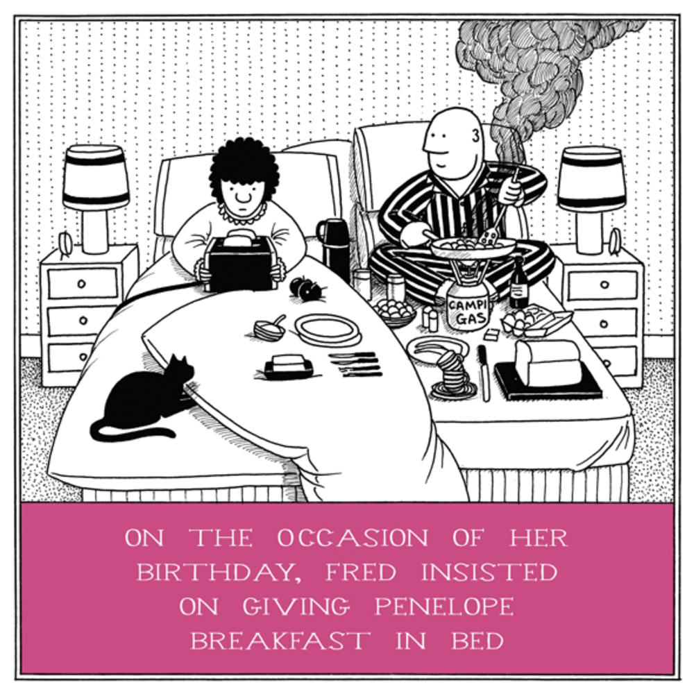 Breakfast In Bed Funny Fred Birthday Card