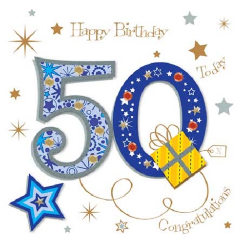 happy 50th birthday greeting card by talking pictures