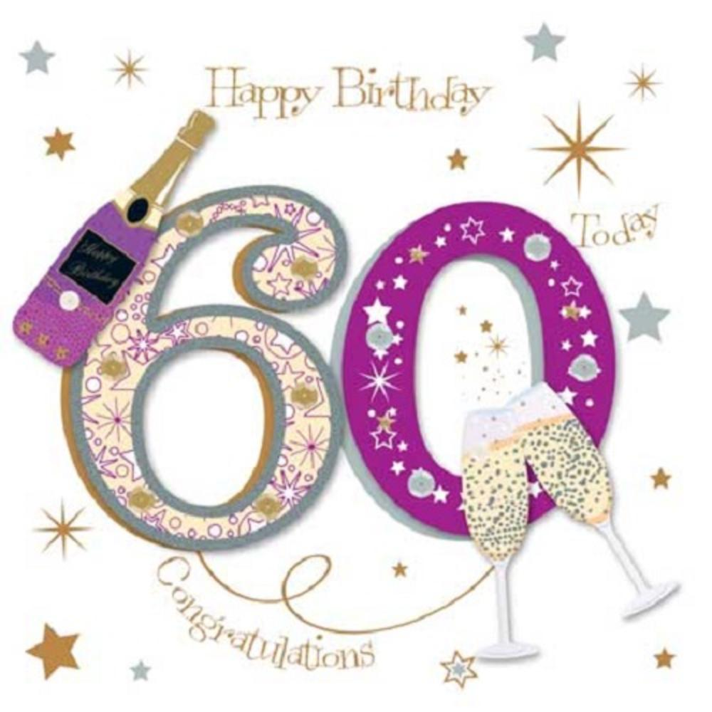 Happy 60th Birthday Greeting Card By Talking Pictures