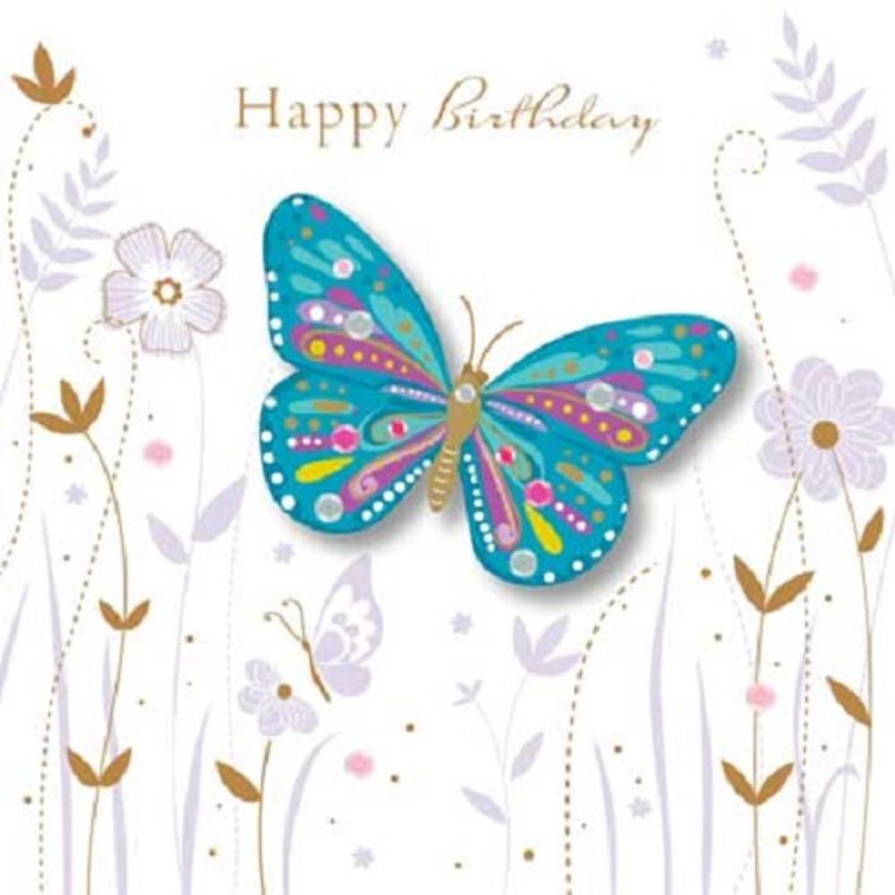 Butterfly Birthday Cards gangcraftnet – Talking Happy Birthday Cards