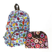 Fold Away Ladies Backpack Patterned Rucksack Choice Of Designs