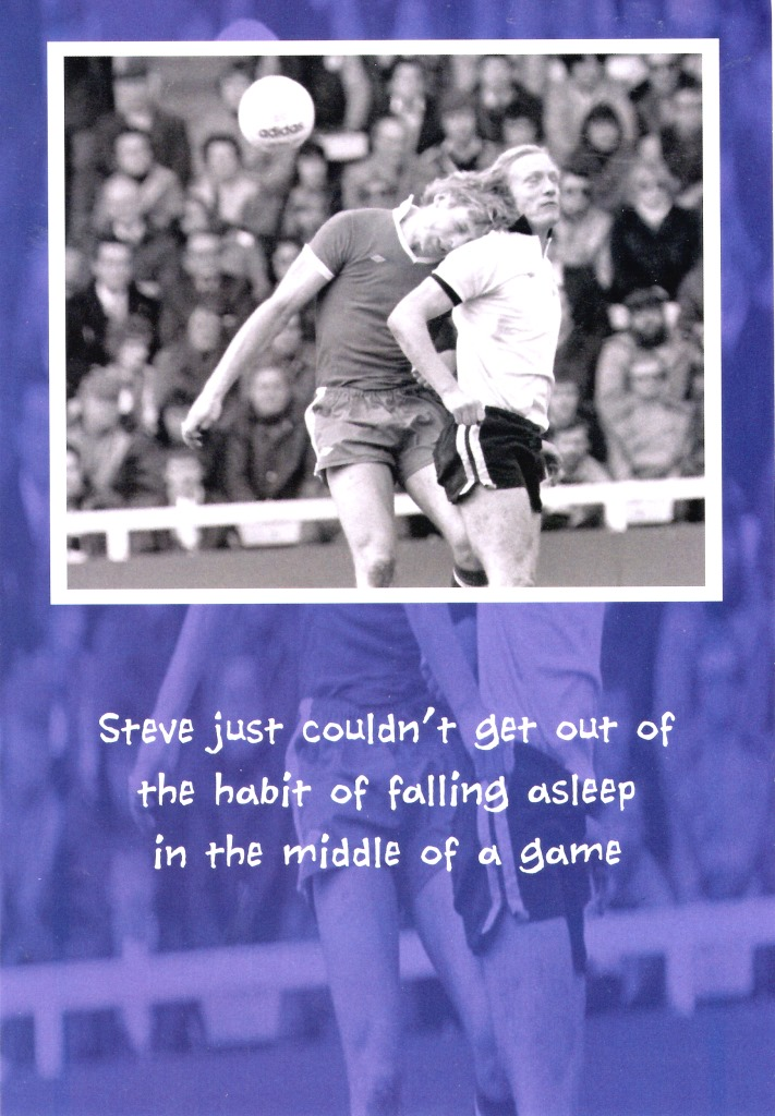 Falling Asleep Football Humour Birthday Card Funny Old Game Fulham – Chelsea Birthday Card