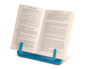 Compact Beachy Blue Travel Book Rest or Tablet Holder
