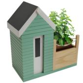 Indoor Beach Hut Planter Gift Set