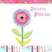 Special Friend Pretty Birthday Card