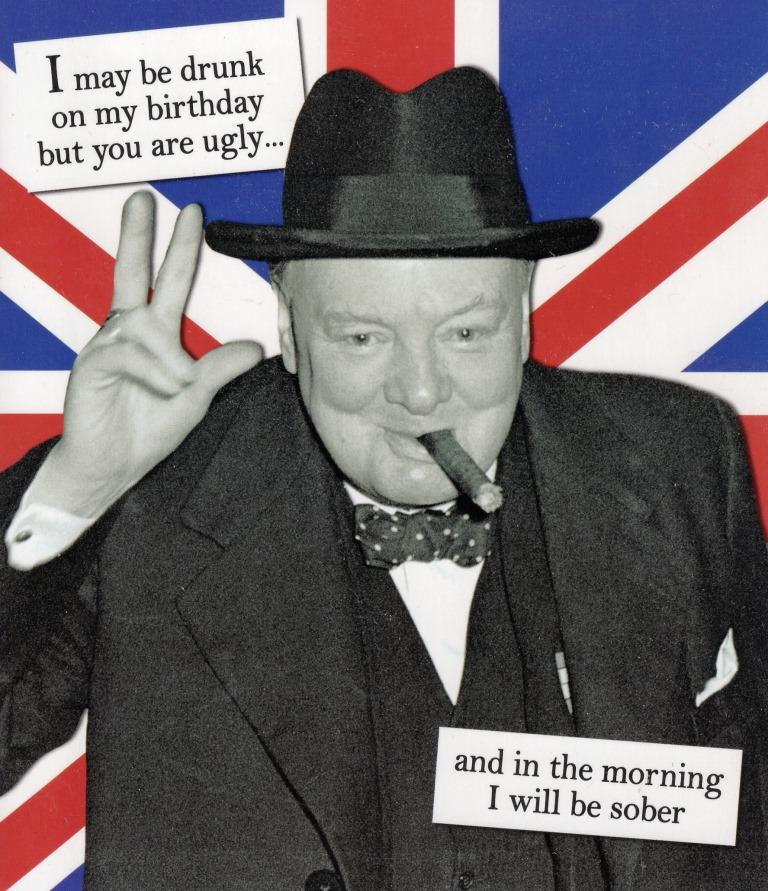 You Are Ugly Churchill Humour Birthday Card Cards – Ugly Birthday Card